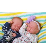 Realistic Reborn Baby Twins boy and Girl Preemie with Beautiful Accessor... - $319.18