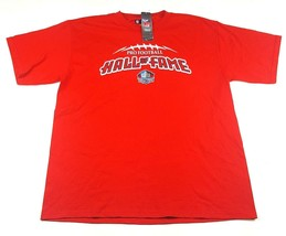 NFL Team Apparel Mens Large Tee Red Pro Football Hall of Fame Canton Ohio NWT - $9.49