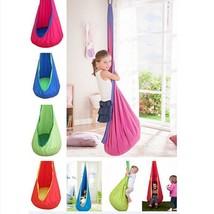 Kids Hammock Chair Swing Hanging Outdoor Indoor Pod Seat Baby Kid Bed No... - $61.74