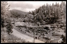 Tiny Town Real Photo Postcard Colorado Tourists Turkey Creek Canon Sanbo... - $24.50