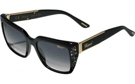 New Authentic CHOPARD SCH187R 700L 53MM Black Sunglasses Grey Lens - $188.09