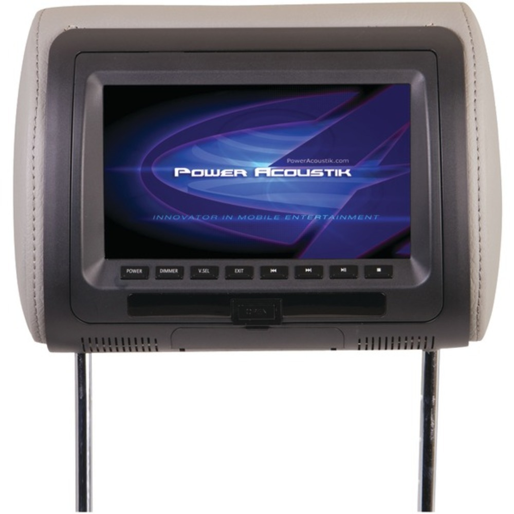 "Primary image for Power Acoustik HDVD-71CC 7"" LCD Universal Headrest Monitor with DVD, IR and FM T"