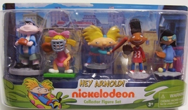 Hey Arnold Action Figures Nickelodeon Collector Figure Set 5 Piece New - $14.99