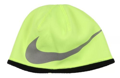 83aed71a4c2 NIKE Therma-FIT Reflective Swoosh Beanie Size Boys Youth Volt Black  Therma-Fit!