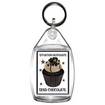keyring double sided need chocolate fun, novelty, keychain key ring