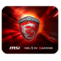 Mouse Pads Dragon MSI Logo In Elegant Black Red Design Gaming Anime Mousepads - $6.00
