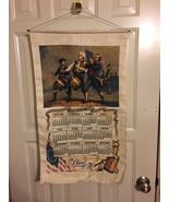 1976 Bicentennial linen calendar KayDee Handprints - $2.97