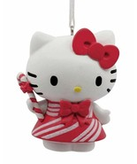 Hallmark  Hello Kitty Candy Cane Red and White Striped Dress  2019 Gift Ornament - $14.84