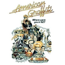 American Graffiti T-shirt retro 70's classic movie 100% cotton graphic print tee image 2
