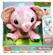 Little Tikes My Buddy Interactive Plush Pink Elephant Baby Toddler Musical - $29.67