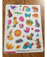 VTG Vintage 1987 Scholastic Spring Fun Easter 28 Stickers Sheet 8.5 X 11 - $29.99