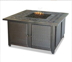 "Uniflame lp Slate Firepit 41"" Copper Accent Patio Deck Mantel 30,000 btu... - $759.45"