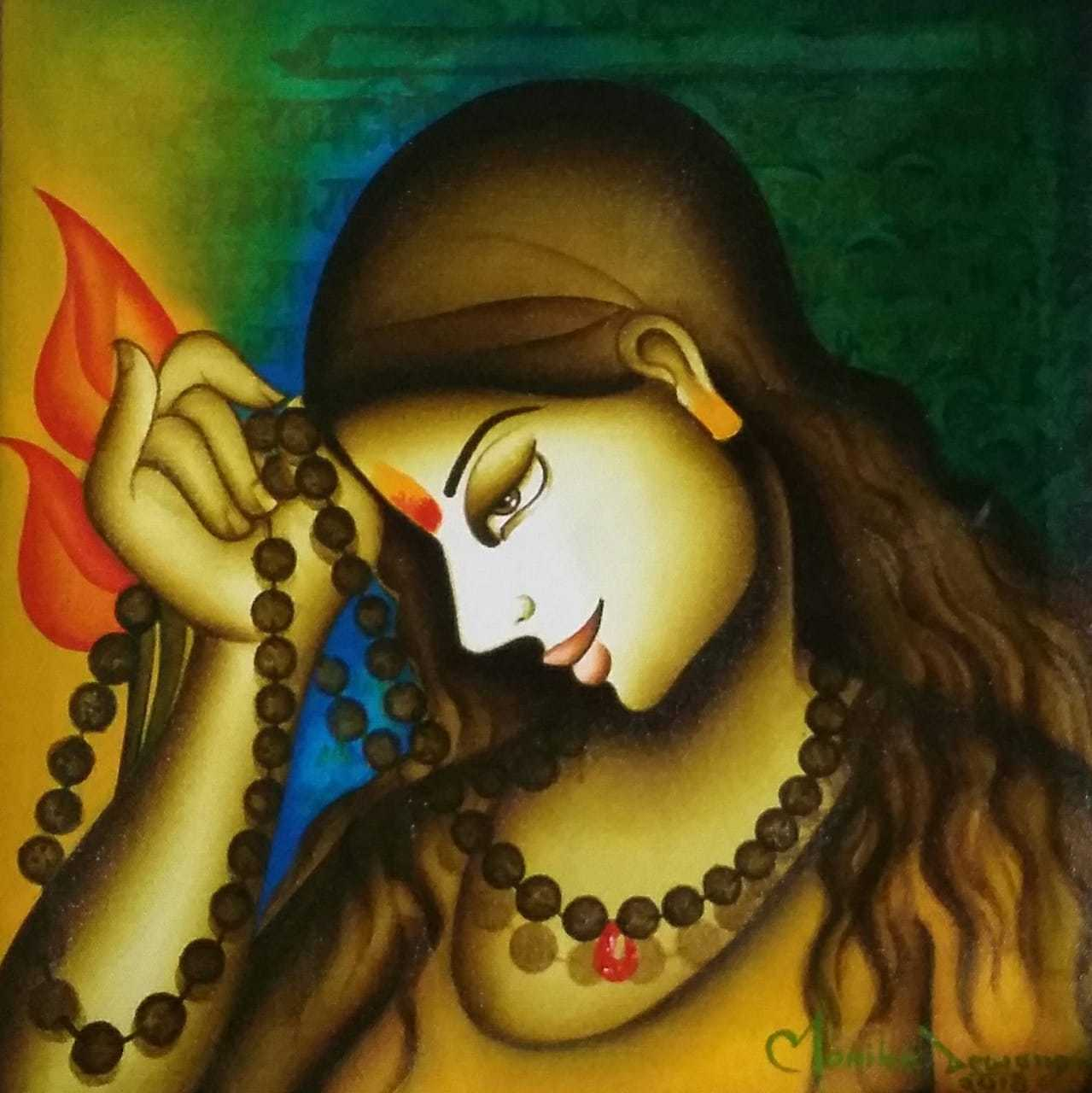 FIGURATIVE BEAUTIFUL ACRYLIC ON CANVAS WALL PAINTING BY INDIAN ARTIST HOME DECOR