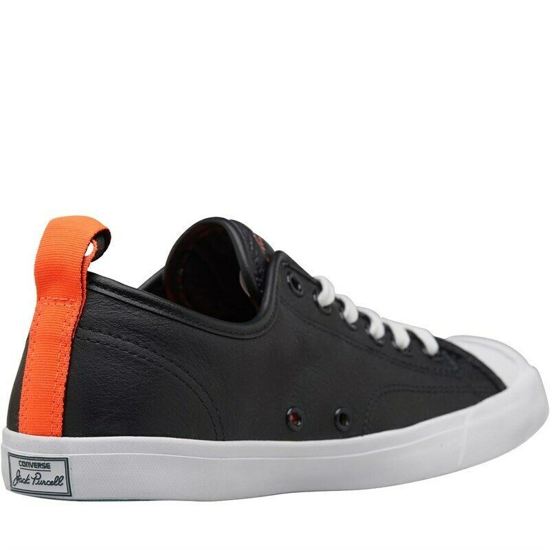 Converse JP Jack Purcell Low Pro Leather Ox Trainers BLACK