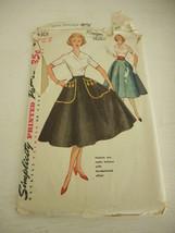 Vintage Simplicity 4301 Skirt Cummerbun Pattern 1960s uncut Waist Size 3... - $24.74