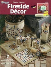 Fireside Decor 7 Items Hearth, Rug, Welcome Plastic Canvas PATTERN/INSTR... - $3.57