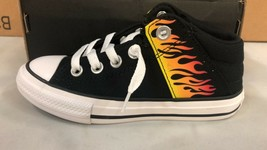 """Converse Chuck Taylor AS Axel Mid """"Into The Flames"""" Kids' Shoes Black Size 12.5 - $34.64"""