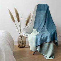 Soft & Warm Reversible Alpaca wool Throw Blanket 63 x 59 in - $59.35