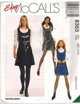 8363 UNCUT McCalls Sewing Pattern Misses Princess Seamed Semi Fitted Jum... - $14.99