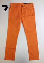 $125 Polo Ralph Lauren Bedford Stretch Slim Straight Pants, Orange, 35x32 - $74.24