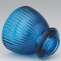 Vintage Viking Bluenique Glass Pot Bellied Stove Glimmer Fairy Light image 3