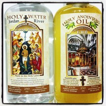 Blessed Holy Water & Myrrh Aromatic Anointing Oil from Holy Land 250 ml ... - $37.13