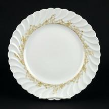 """Haviland Limoges Ladore Dinner Plate, Vintage Gold Decor Swirl Porcelain 10 1/4"""" - $14.70"""