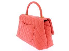 CHANEL Handbag Caviar Leather Salmon Pink CC Logo A92991 Italy Authentic 5500253 image 2