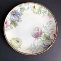 """Vintage O & EG ROYAL AUSTRIA Floral Hand Painted 9"""" Plate with Gold Trim - $21.33"""