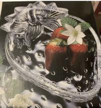 Studio Nova Strawberry Delight glass candy bowl dish tray - $9.95