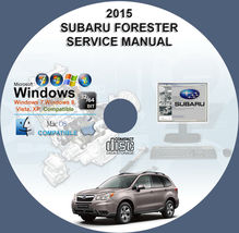 Subaru Forester 2015 Factory Workshop Service Repair Manual - $15.00