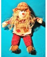 "23"" Scarecrow Straw Doll Girl Fabric Thanksgiving Autumn Fall Halloween ... - $17.81"