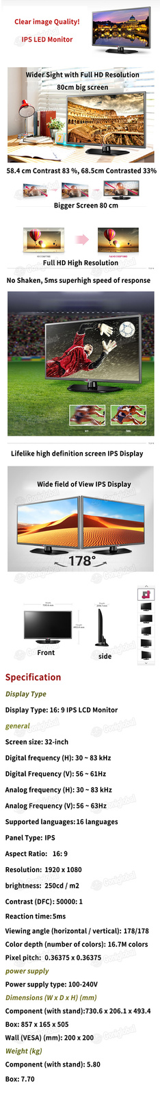 LG LG 32MB25VQ 32inchesIPS Monitor / Full HD Resolution / Wide View Angle AH-IPS