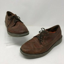 Rockport 9.5 Rocsport Sneaker Mens Brown Leather Lace Up Wingtip Oxford M2675 - $39.59