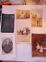 Vtg 6 Photos 2 are Post Cards 1 Dated 1943 Display Dolls Bridge Chair Plate - $5.00