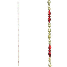Darice Christmas Beaded Garland: Red/Gold, 36 inches w - $8.99
