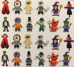 BANG STORE Nail Art Water Decals Halloween Mummy Witch Devil Scarecrow Zombie - $3.15