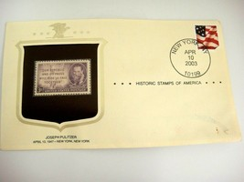 Joseph Pulitzer 3¢ Stamp and First Day Cover New York 2003 - $6.57