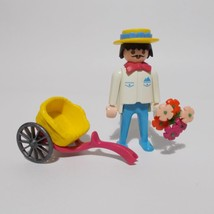Playmobil Flower Vendor Figure 5400 Victorian Mansion Seller Peddler Parts - $17.81