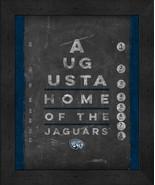 "Augusta University Jaguars 13x16 College""Chalkboard Look Eye Chart"" Fram... - $39.95"