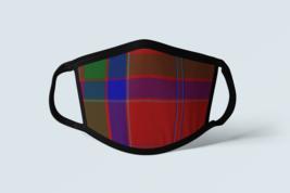 Clan MacGillivray Tartan Face Mask Scottish Family Plaid Blue Red Coveri... - $12.19