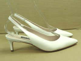 Nine West Women's Feliks White Leather Slingback Pump Size 7.5 - $29.91