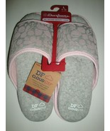 New Dearfoams Women's Memory Foams House Slide Slippers Gray/Pink Large ... - $25.73