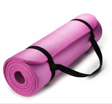 Exercise Mat Thick HD Foam PINK Yoga Floor Pilates Stretching Gym Workou... - $29.65