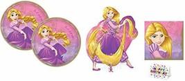 Amsc Rapunzel Princess Decoration Party Bundle: Round Lunch Plates Napki... - $21.73