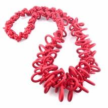 HUGE Vintage 1980s Handmade Pop Art Knotted Rubber Modernist Design NECK... - $121.54