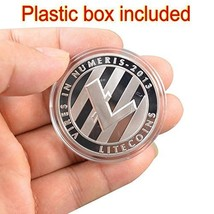 Silver Plated Commemorative Litecoin Collectible Iron Miner Coin - One Item w/Ra