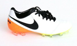 Nike Tiempo Legend VI FG White & Orange Soccer Cleats Men's 8.5 NEW - $207.89