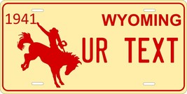 Wyoming 1941 License Plate Personalized Custom Auto Bike Motorcycle Moped Tag - $10.99+