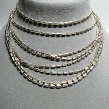 """MILOR ITALY Sterling Silver VERY LONG 124"""" Faceted Bar Chain Necklace 43... - $123.74"""